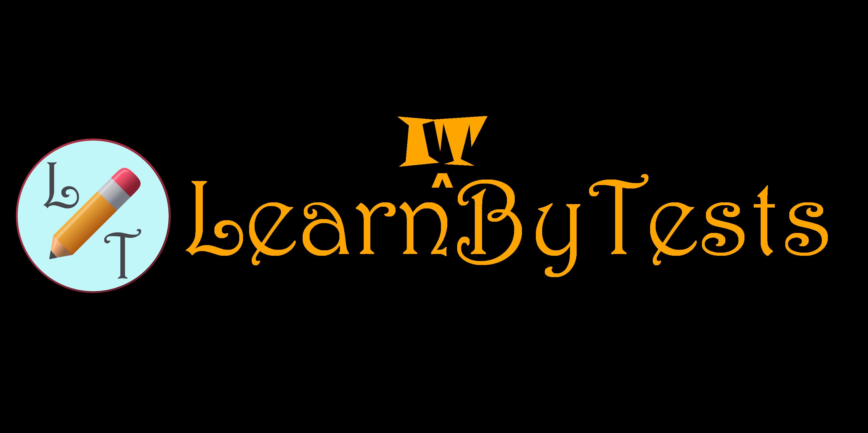 LearnByTests full logo DARKTHEME